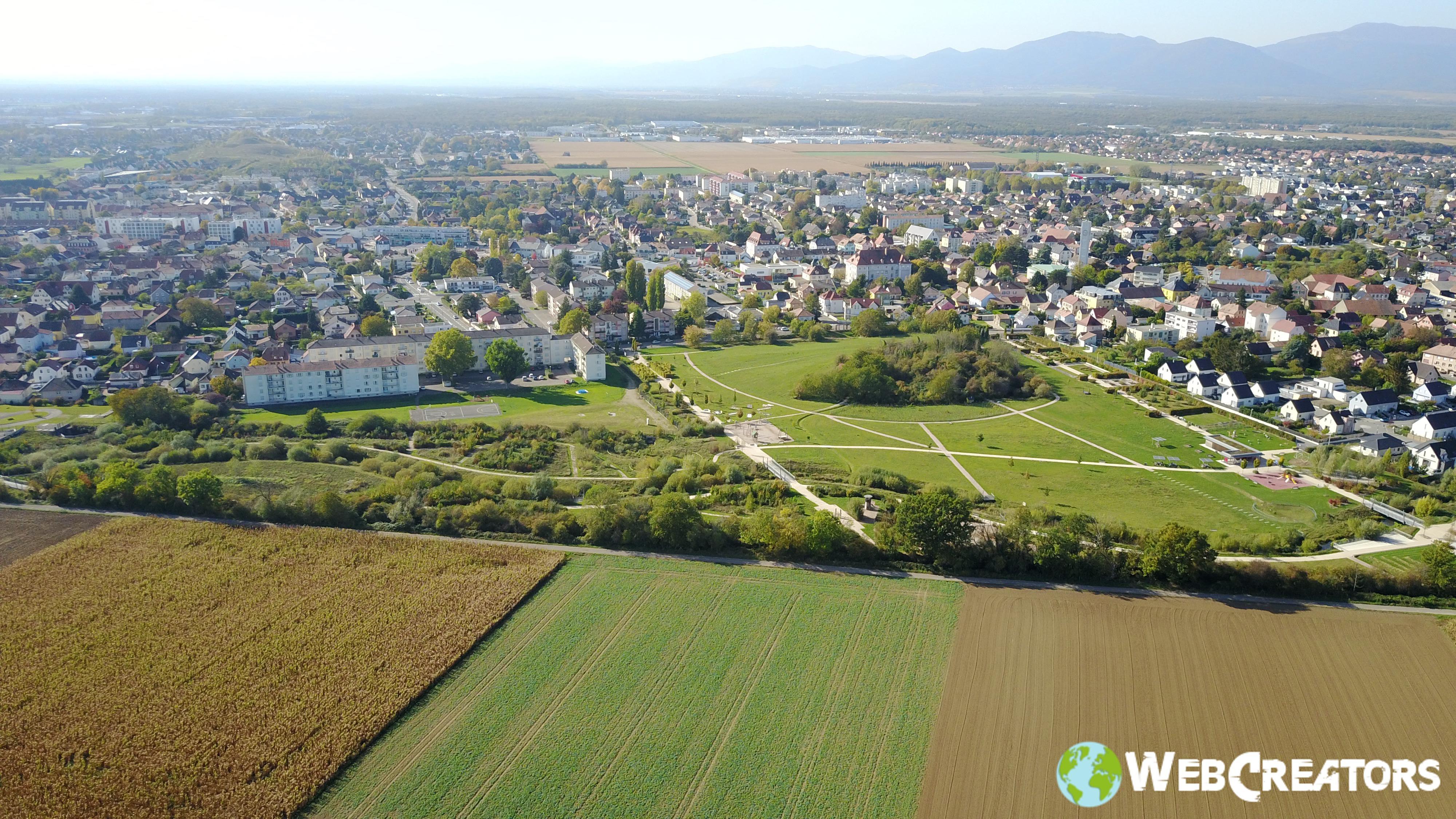 prastataire drone vues aérienne Mulhouse Wittenheim Colmar